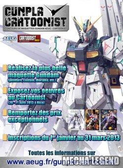 GUNPLA CARTOONIST : concours de maquettes Gundam AEUG